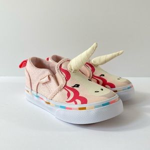 Vans Asher V Canvas Pink Unicorn Sneakers